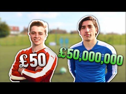 £50 Footballer Vs. £50,000,000 Footballer | FREE KICKS