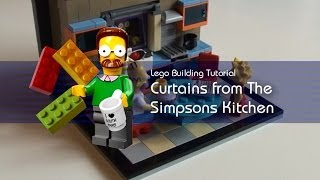 Lego Tutorial - Building The Window & Curtains From The Simpsons Kitchen