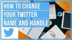 🔵 How To Change Your Twitter Display Name And @ Handle