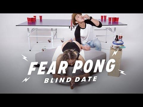 Blind Dates Play Fear Pong (Estefany vs. Sam)   Fear Pong   Cut
