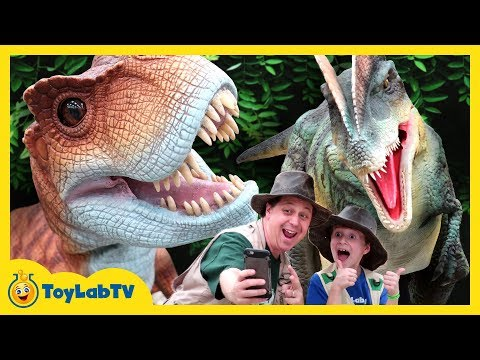 Download Youtube: Giant Life Size T-Rex & Little Dinosaurs at Jurassic Quest Kids Dinosaur Event