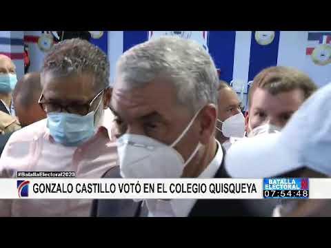 Gonzalo Castillo ejerce su derecho al voto; llama a ir a las urnas de forma entusiasta