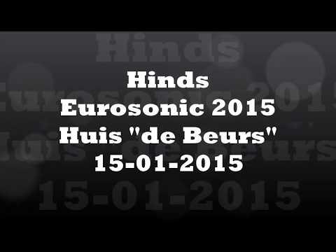 Eurosonic 2015 Hinds, De Beurs Groningen live