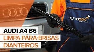 Como substituir a Escovas dos limpa pára-brisas dianteiros no AUDI A4 B6 [TUTORIAL]