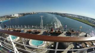 Pacific Dawn - A Time Lapse: Cruise Departing Brisbane
