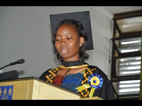 UG Valedictorian Naa Oboshie Anang graduates with 3.94 FGPA at July 2018 Congregation