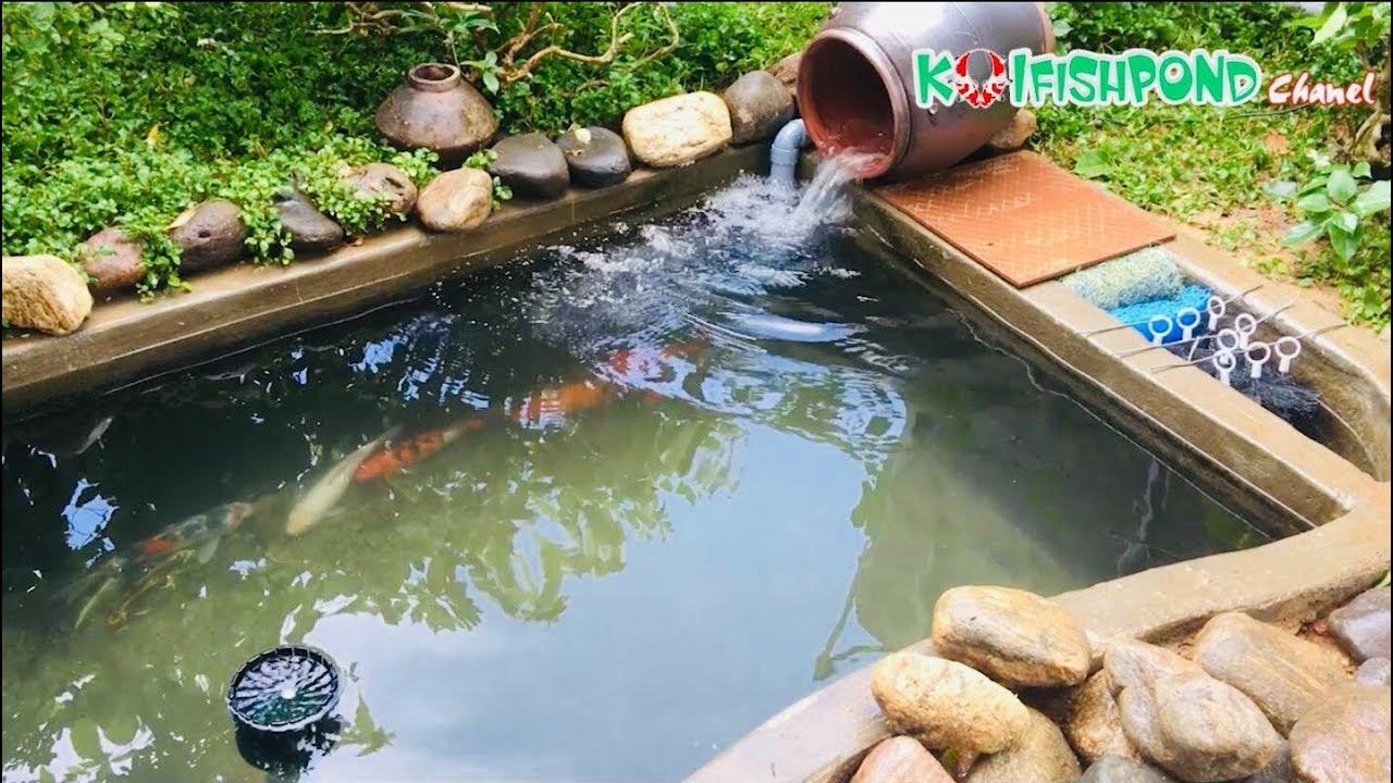 Cách làm lọc hồ cá Koi đơn giản mà hiệu quả – How to make a koi pond filter | Koi Fish Pond Chanel