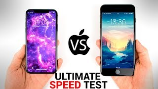 iPhone X vs 7 Plus - ULTIMATE SPEED Test!