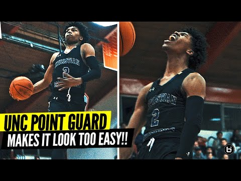 UNC POINT GUARD CALEB LOVE AIN'T SCARED OF NOBODY!! HITS NASTY WINDMILL IN RIVALRY GAME!!