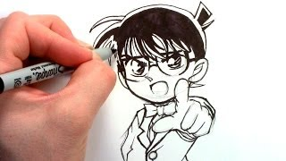 How to draw Detective Conan Edogawa 江戸川 コナン