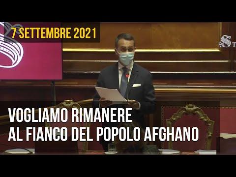Luigi Di Maio in Senato: Vogliamo rimanere al fianco del popolo afghano