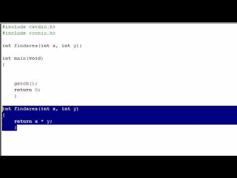 C Programming Tutorial - 11 - Into to Functions