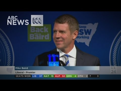NSW Election: Mike Baird claims victory
