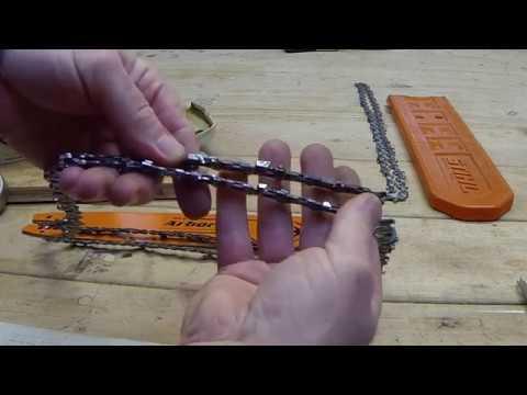 STIHL MS170 chain and bar comparison test