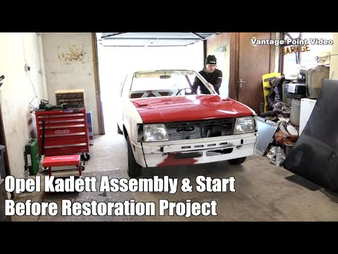 Opel Kadett Assembly Time-lapse Before Car Restoration