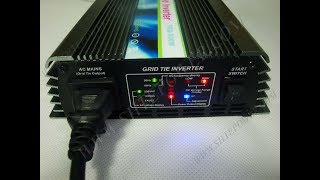grid tie inverter micro 600w with 24v 250w solar panel