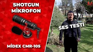 Midex CMR-105 Dslr Video Fotoğraf Makinesi Kamera Üstü Shotgun Mikrofon