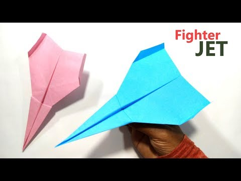 How to Fold Paper Fighter Jet - Easy Paper Jet - Origami Aircraft
