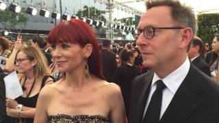 Video Carrie Preston ('The Good Wife') and Michael Emerson ('Lost') on 2016 Creative Arts Emmys red carpet download MP3, 3GP, MP4, WEBM, AVI, FLV November 2017