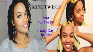 """Mini Twists Tutorial 2017 feat My """"On the Go"""" Wash Day Routine"""