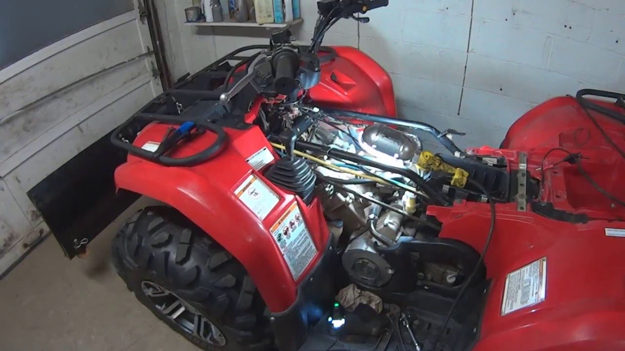 yamaha kodiak grizzly valve adjustment and fluid check. Black Bedroom Furniture Sets. Home Design Ideas