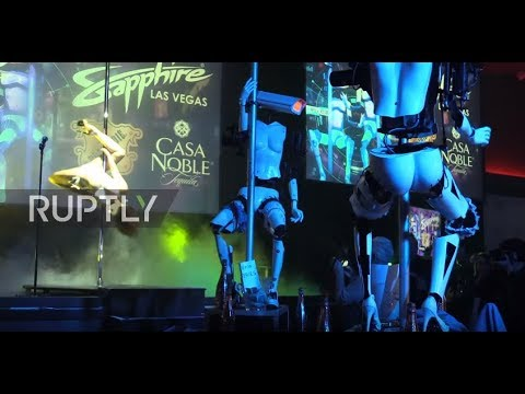 Pole-dancing 'R2DoubleD' launches gyrating robot strippers at Vegas club