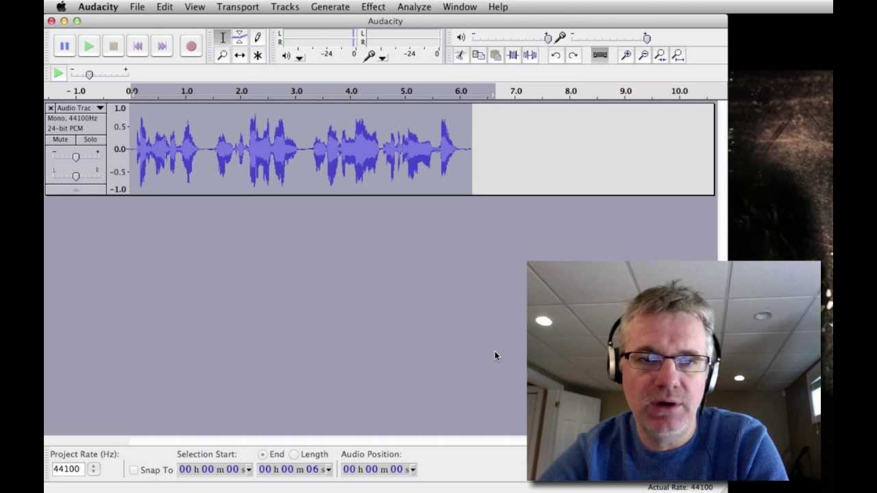 audacity tutorial how to record voice for voice over podcast walkthrough videos vocal effects. Black Bedroom Furniture Sets. Home Design Ideas
