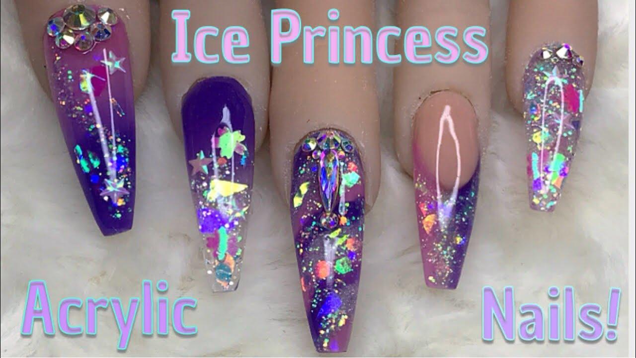 Ice Princess Nails   Acrylic Nails   Nail Sugar - YouTube