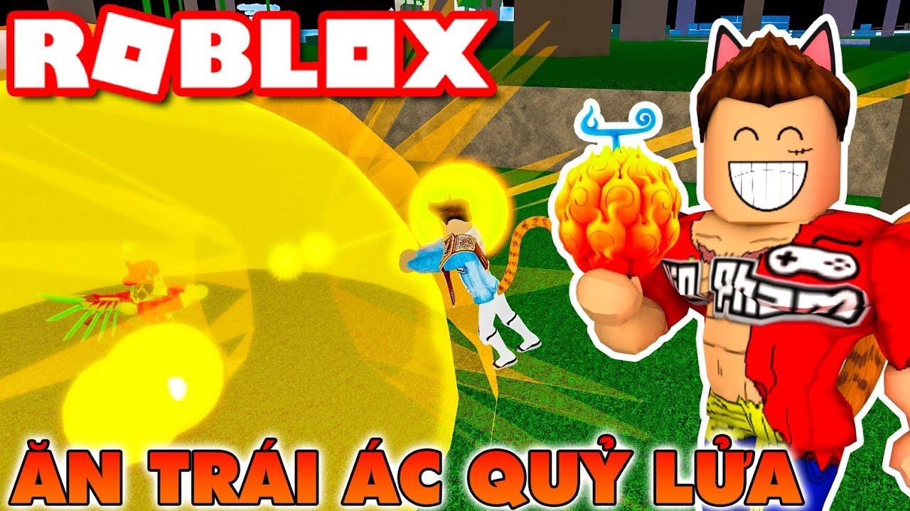 Roblox | KIA VAMY ĂN TRÁI ÁC QUỶ FLAME ĐÁNH NHAU QUYẾT LIỆT - Blox Piece | KiA Phạm