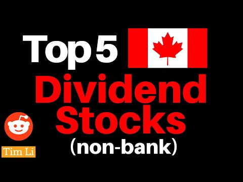 🍁 TOP 5 CANADIAN DIVIDEND STOCKS (non banks)