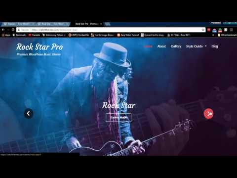 Rock Star Free WordPress Theme Features and Download Link