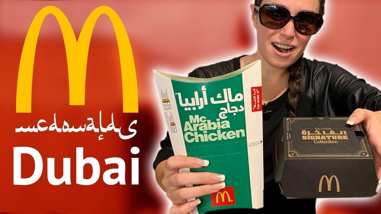 We tried McDonalds in Dubai!!!