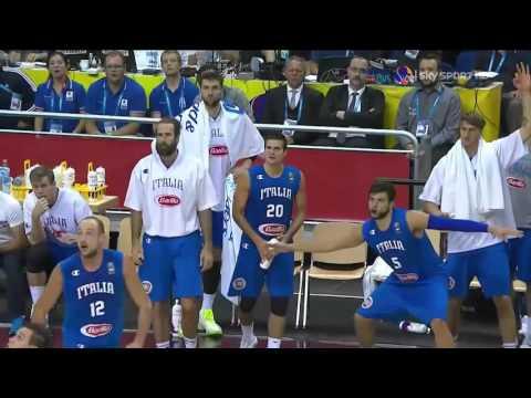 Marco Belinelli 7/9 da tre contro la Spagna - Eurobasket 2015 - Live F. Tranquillo