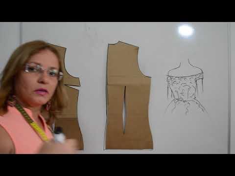 Diy - Como fazer molde de decote ombro a ombro com ou sem babado - aula 111 from YouTube · Duration:  20 minutes 1 seconds