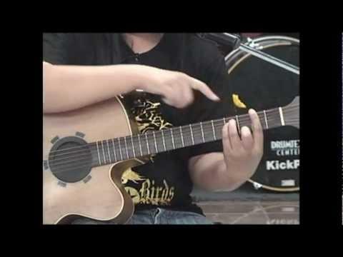 Guitar Chord D,Em,F#m,G,A,Bm /การจับคอร์ดในคีย์ D