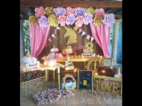 En vivo preparativos fiesta de unicornio para isabella 2a os youtube - Ver decoracion de salones ...