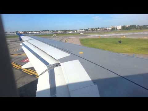 Delta Airlines A319 Takeoff LaGuardia Airport