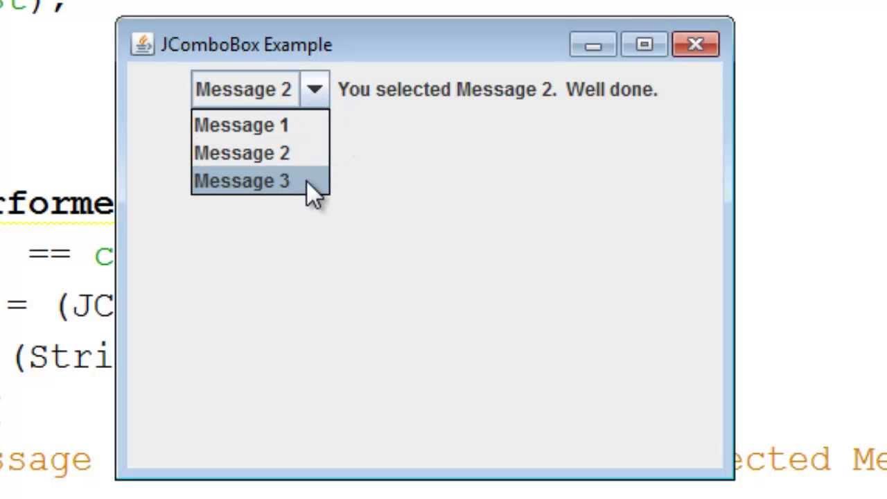 como usar jcombobox en java