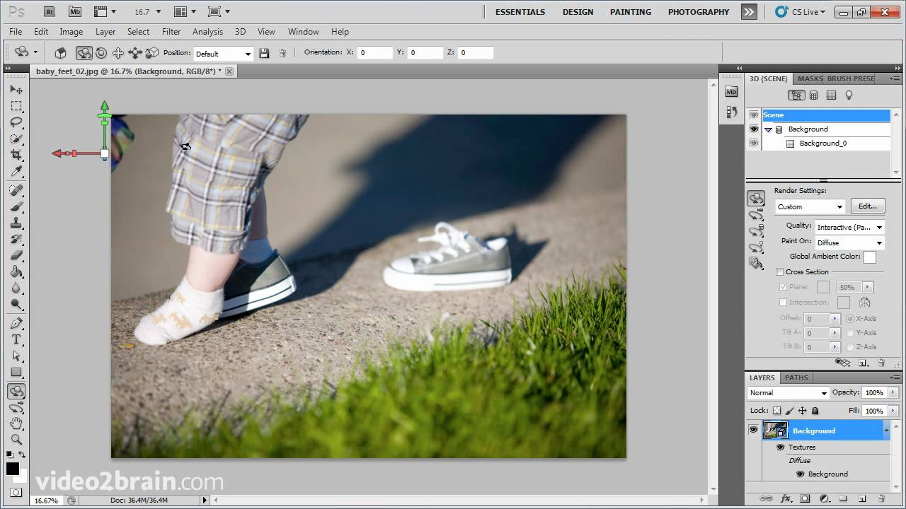 using the 3d tools of adobe photoshop cs5 youtube