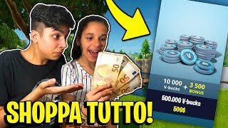 "EVERY KILL of MY SORELLA SHOPPO 1000 V-BUCKS! ""COSTER"" Fortnite ITA"