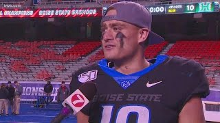 Boise State Kekoa Nawahine talks about living out his dream of playing on the Blue