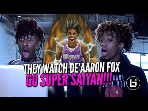 THEY WATCH DE'AARON FOX GO SUPER SAIYAN DROP 5OPTS! Ballislife BCB Reaction