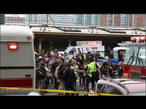 Raw video: The scene in Hoboken after NJ Transit train crash