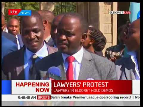 Lawyers in Eldoret hold demos in protest over shortage of judges