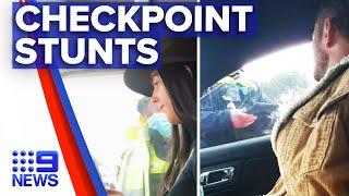 Coronavirus: Woman talks her way through police checkpoint | 9 News Australia