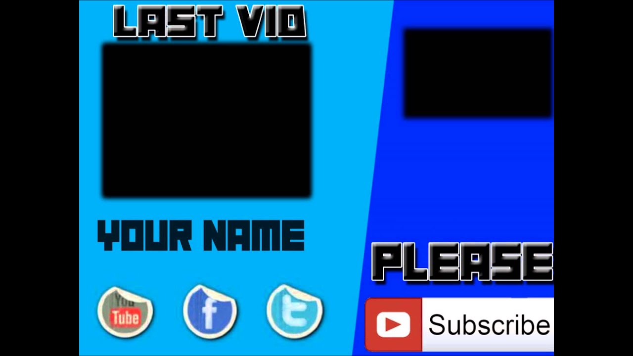 Blue outro template windows live movie maker youtube maxwellsz