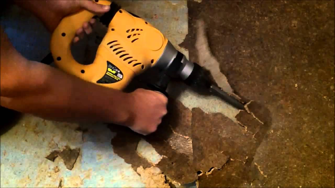 Wolf Craft 1500w Sds Impact Drill Removing Bonded Cork Tiles Youtube