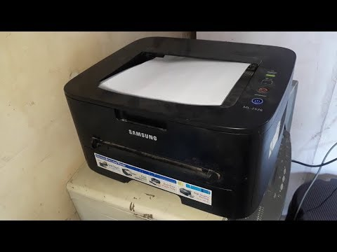 How To Download & Install Samsung ML-2526 Printer Driver Configure It And Scanning Documents