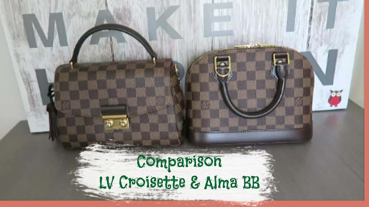 0a8b8b209 Comparison between Louis Vuitton Alma BB and Croisette | Red Ruby Creates -  YouTube