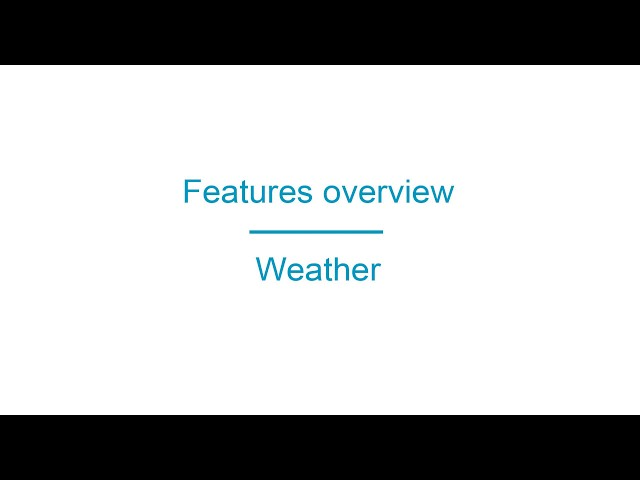 Apprikator.com Features Weather